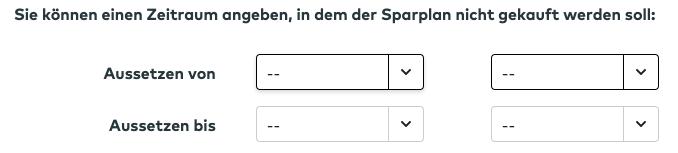 comdirect ETF Sparplan pausieren